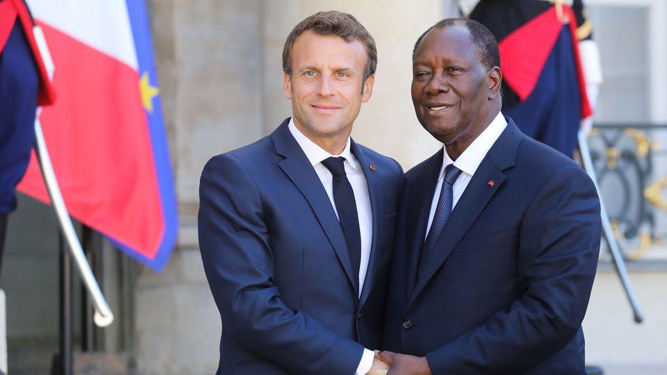 75 ans du débarquement de Provence: Macron, aux côtés d'Alpha Condé et Alassane Ouattara