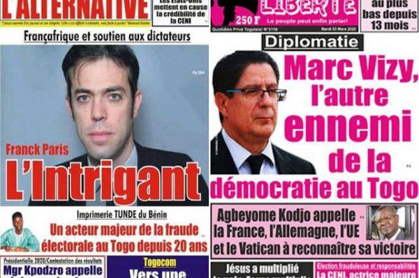 Togo: deux journaux d'opposition suspendus après une plainte de la France