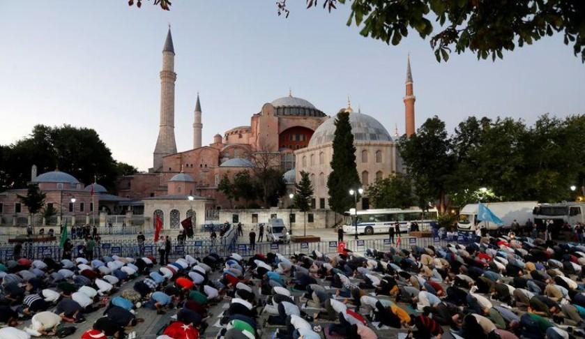 La France déplore la décision turque au sujet de Sainte-Sophie