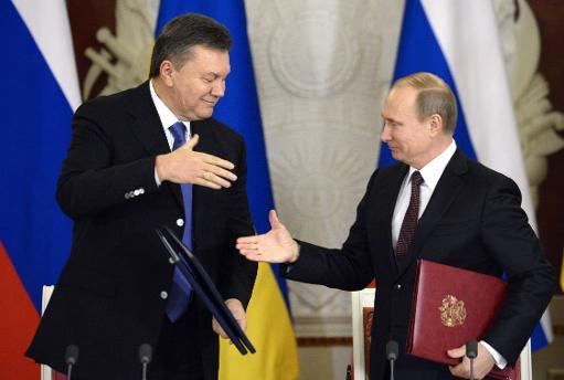 Viktor Ianoukovitch et  Vladimir Poutine