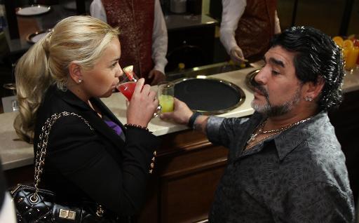 Diego Maradona et Veronica Ojeda