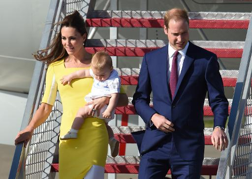 Après la Nouvelle-Zélande, William, Catherine et George en Australie