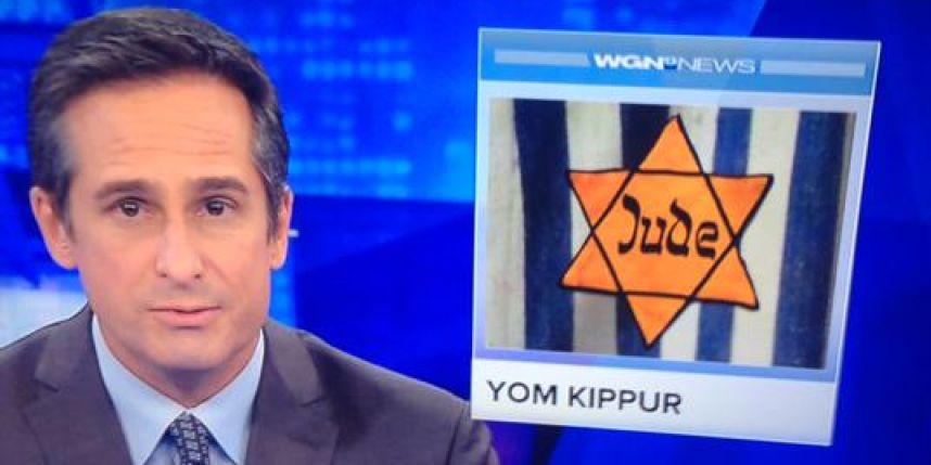 Une chaîne d'info américaine illustre Yom Kippour avec une étoile jaune