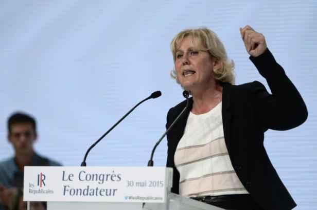 L'eurodéputée française Nadine Morano (Les Républicains) à Paris