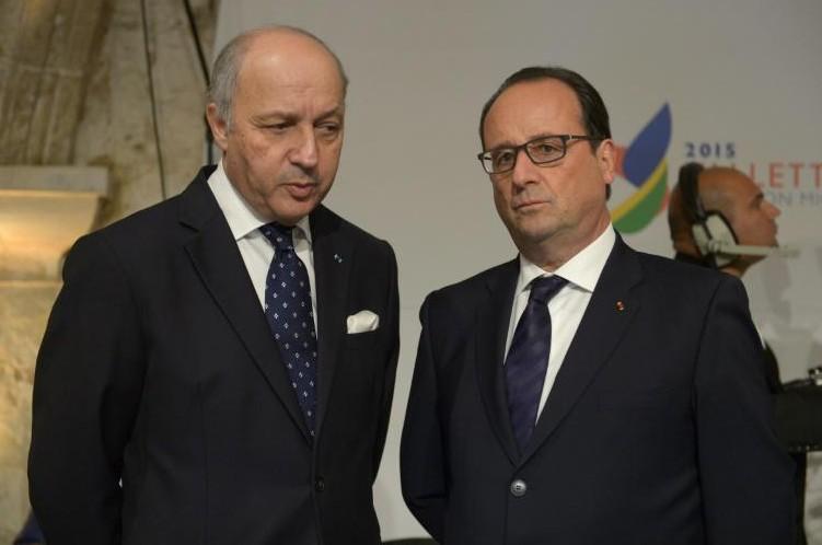 Laurent Fabius et François Hollande
