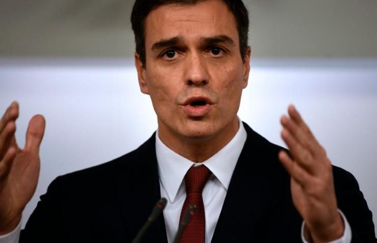 Le dirigeant socialiste espagnol, Pedro Sanchez