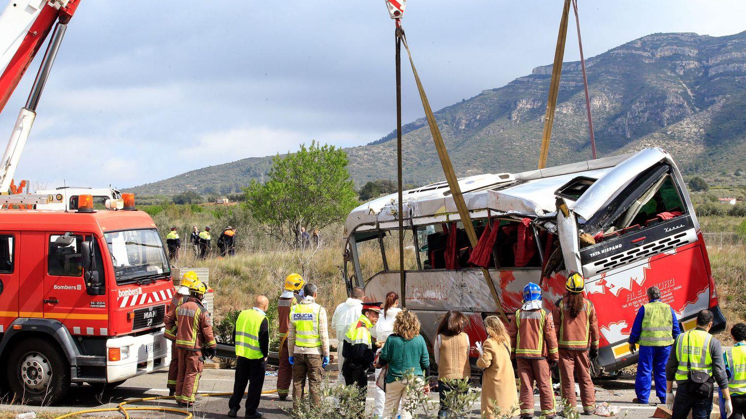 Accident d'autocar en Espagne: sept Italiennes et deux Allemandes tuées