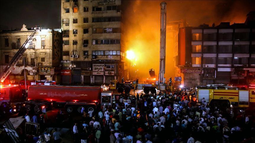 Egypte : Vingt blessés dans un incendie au centre du Caire