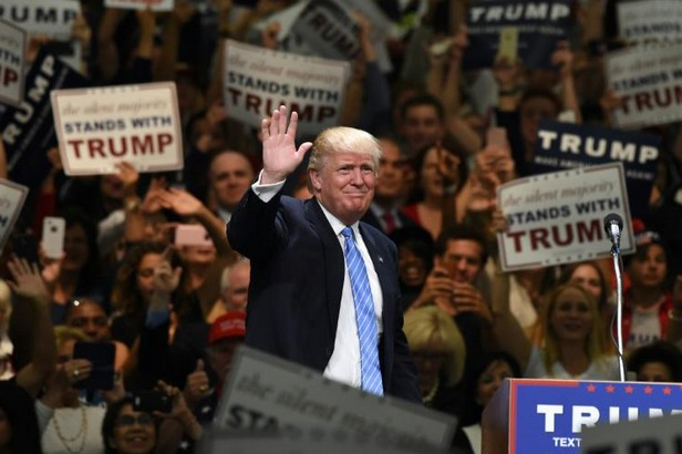 Le candidat républicain Donald Trump, le 25 mai à Anaheim en Californie USA: en Californie, Trump dénonce les immigrés clandestins