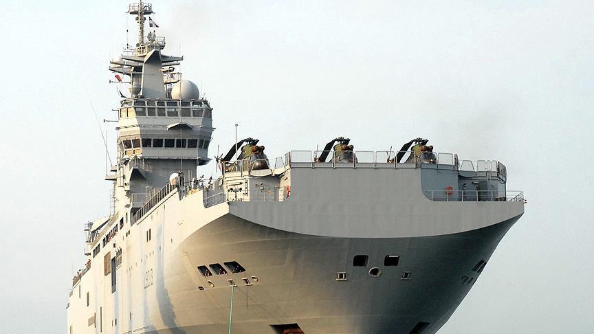La France livre le premier navire Mistral à l'Egypte